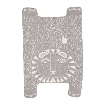 Donna Wilson - Lion Shaped Mini Blanket - Grey (H96 x W63cm)