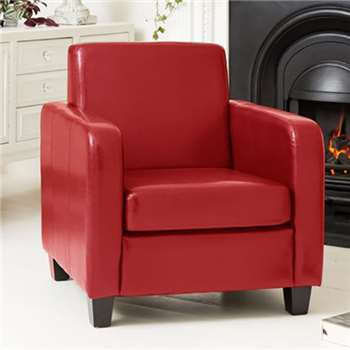 Dorchester Armchair, Red (H79 x W72 x D73cm)
