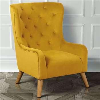 Dorchester Lounge Armchair, Mustard Yellow (H106 x W78 x D90cm)
