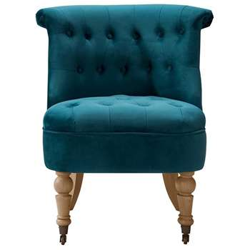 Doris Occasional Chair Teal (H82 x W67 x D52cm)