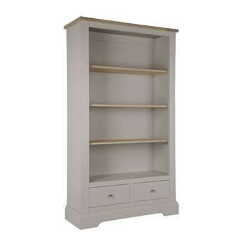 Dorset Pale French Grey 2 Drawer Bookcase (191 x 110cm)