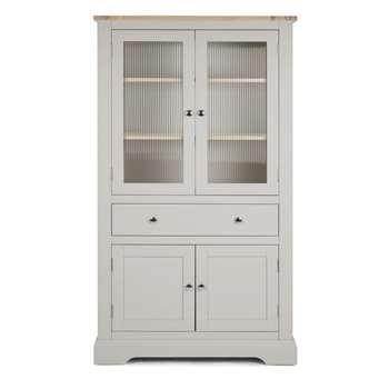 Dorset Pale French Grey 4 Door 1 Drawer Storage Unit (190 x 65cm)