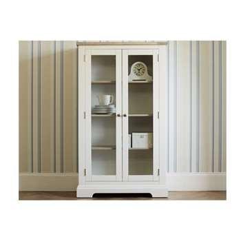 Dorset White Large 2 Door Display Cabinet (170 x 100cm)