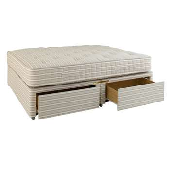 Double Divan Bed with Drawers (61 x 198cm)