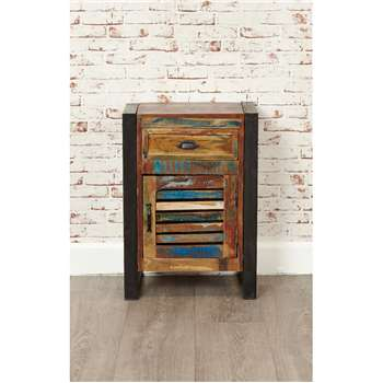 Downtown Modern 1 Door 1 Drawer Lamp Table (H71 x W50 x D35cm)