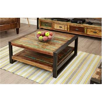 Downtown Modern Square Coffee Table (35.5 x 80cm)