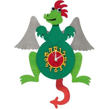 Dragon Personalised Wooden Pendulum Clock (H30 x W25cm)
