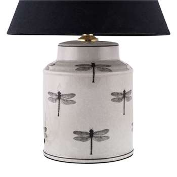 Dragonfly Canister Lamp Base (27 x 15cm)