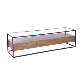Drift TV unit with drawers walnut (40 x 150cm)