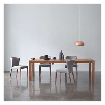 Drio Dining Set With Walnut Table and 4 Valentina Chairs