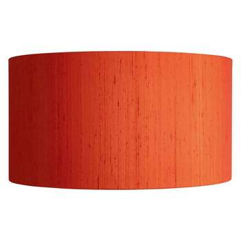 Drum Silk Orange Terracotta Silk Lampshade Dia. 49Cm (H26 x W49 x D49cm)