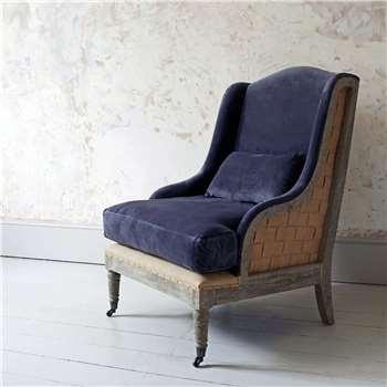 Duke Grey Velvet Armchair (H106 x W70 x D74cm)