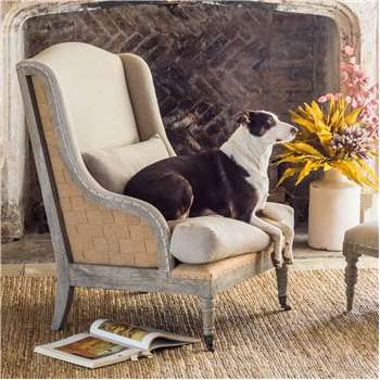 Duke Natural Linen Armchair (H106 x W70 x D74cm)