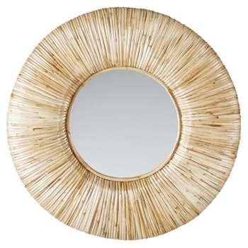 DUMA - Round Rattan Mirror (Diameter 91cm)