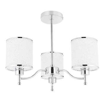 Dumont 3 Light Semi-Flush Ceiling Light Polished Chrome (H37.5 x W46 x D46cm)