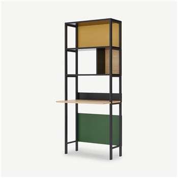 Duncan Storage Desk, Multicolour (H185 x W75 x D50cm)