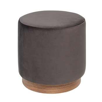 Duo stool grey velvet (H39 x W40 x D40cm)