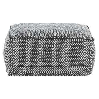 Durrie Monochrome patterned floor cushion (Width 55cm)