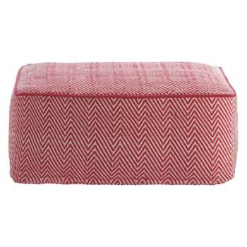 Durrie Red/white patterned floor cushion (Width 55cm)