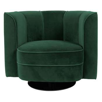 Dutchbone Flower Lounge Chair in Green (H76 x W86 x D74cm)
