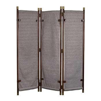 Dutchbone Riva Room Divider with Herringbone Design Panels (H180 x W133 x D26cm)