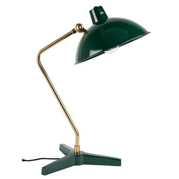 Dutchbone Devi Vintage Desk Lamp in Gloss Green (H52 x W28 x D36cm)