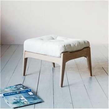 Dylan Linen Footstool (H52 x W58 x D41cm)