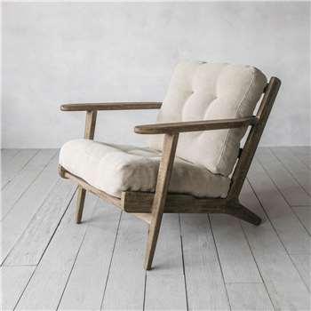 Dylan Natural Linen Armchair (H73 x W72 x D73cm)