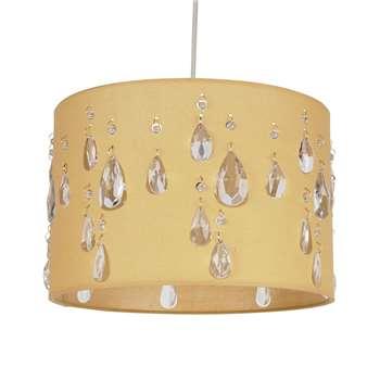 Earlane Pendant Light Shade Pale Gold (H20 x W30 x D30cm)