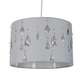 Earlene Pendant Light Shade Grey (H20 x W30 x D30cm)