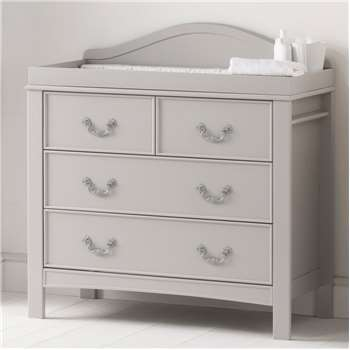 East Coast Toulouse Dresser & Baby Change Unit in French Grey Design (106 x 104cm)