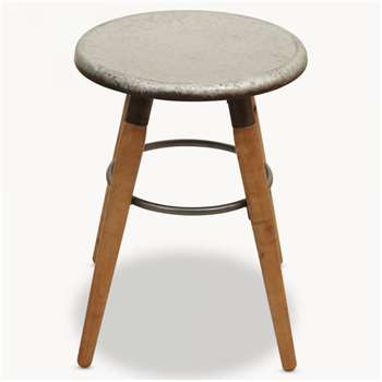 Eastford Stool with Round Metal Seat (50.5 x 37cm)