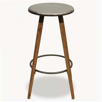 Eastford Stool with Round Metal Seat (75 x 38.5cm)