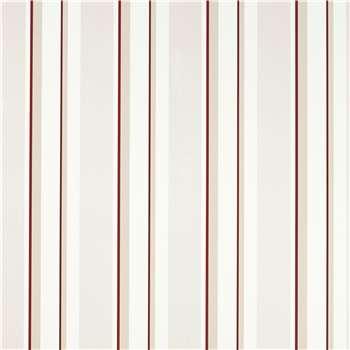 Eaton Stripe Cranberry Red Wallpaper