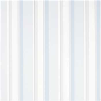 Eaton Stripe Dove Grey/Seaspray Blue Wallpaper