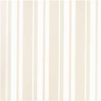 Eaton Stripe White Wallpaper