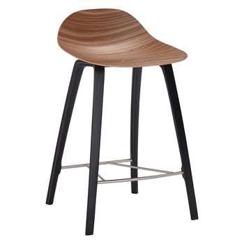 Ebbe Gehl for John Lewis Cocoon Bar Stool, Walnut (H98.5 x W49.3 x D54.5cm)