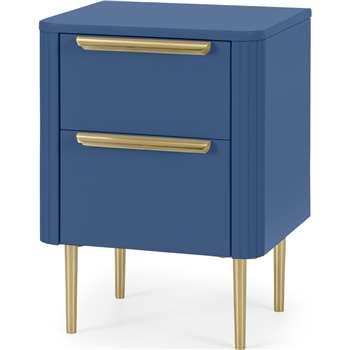 Ebro Bedside Table, Blue (H60 x W40 x D43cm)