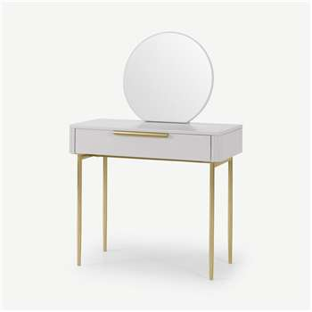Ebro Dressing Table, Grey (H130 x W90 x D45cm)