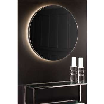 Eclipse Illuminated Mirror Chrome (H85 x W85 x D6cm)