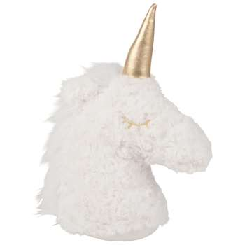 Ecru and Gold Unicorn Door Stop (Height 25cm)