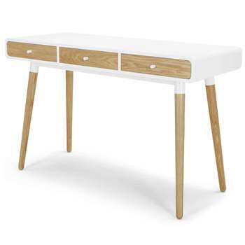Edelweiss Desk, Ash and White (77 x 120cm)