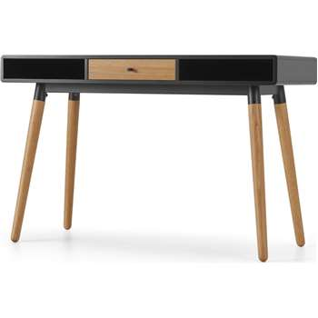 Edelweiss Desk, Oak and Black (H77 x W120 x D50cm)