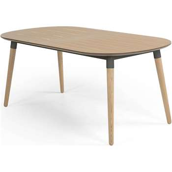 Edelweiss Extending Dining Table, Ash and Grey (74 x 170-210cm)