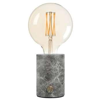 Edgar Home - Orbis Lamp - Grey Marble (H26 x W12.5 x D12.5cm)