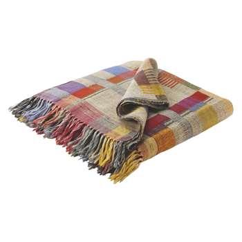 Edric Multi-Coloured Wool And Silk Throw (150 x 170cm)