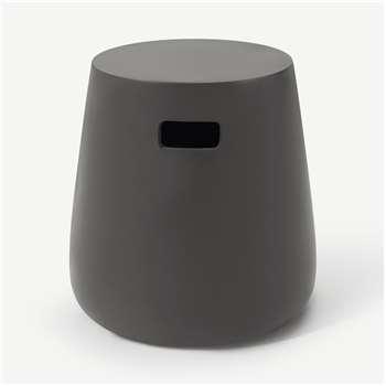 Edson Garden Stool, Black (H41 x W37 x D37cm)