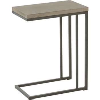 Edson side table, cement and metal (76 x 63cm)