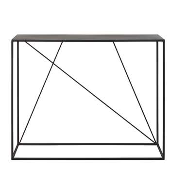 EDWIN - Black Metal Console Table (H80 x W100 x D35cm)