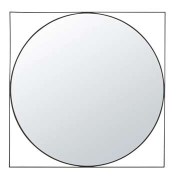 EDWIN - Black Metal Mirror (Diameter 100cm)